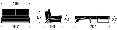 Bedworks Sofa Beds - Cubed 160 Queen Sofa Bed