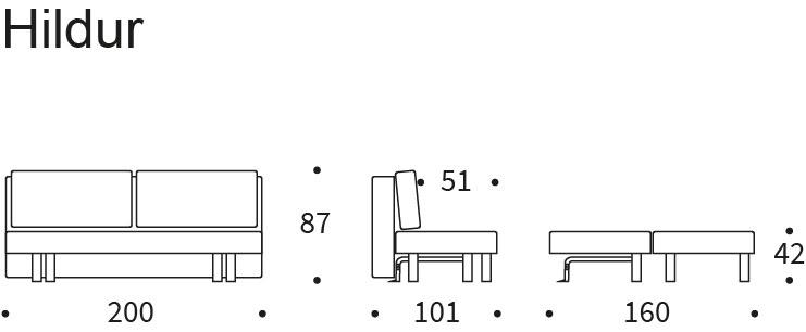 Hildur Sofa Bed Dimension