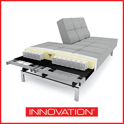 Our sofa beds use a combination of high grade foam and pocket springs to provide you with the best sleeping and seating comfort. Our foam delivers the right amount of firmness for pressure relieving comfort. Meanwhile, our pocket spring system provides optimum lateral support when sleeping so your body is well-supported for a good night's sleep.