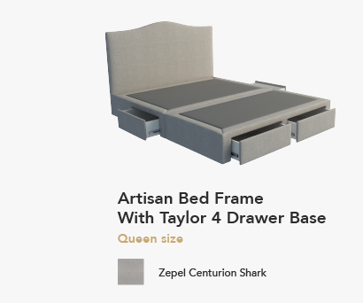 Artisan Bed With Tracey Drawer Base