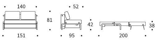 Ramone 140 Sofa Bed