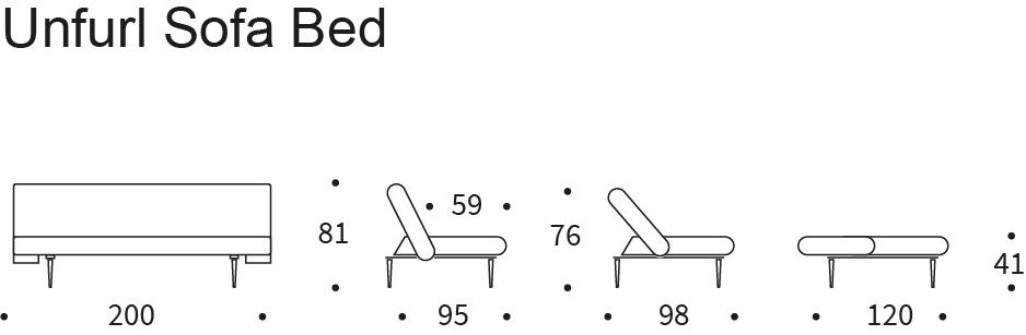 Bedworks Sofa Beds - Unfurl Sleek King Single Sofa Bed