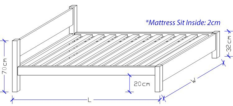 Aurora Timber Bed Frame