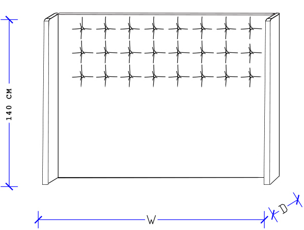 Bedworks Custom Upholstered Head Board - Matrix Upholstered Head Board