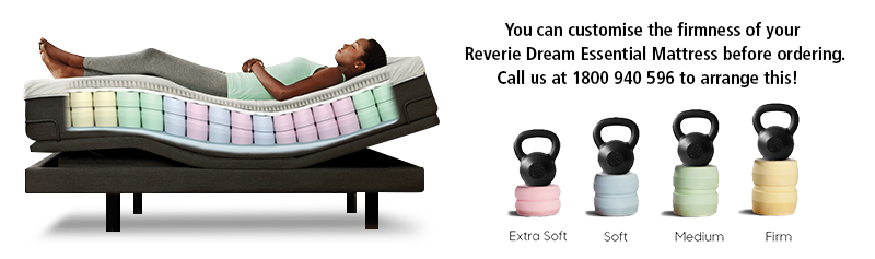 Reverie uses the Patented DreamCells™ Technology to configure a customised firm feel just for you