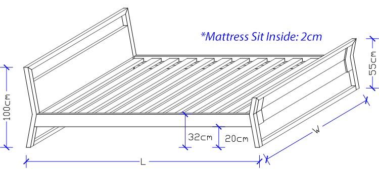 Custom Made Design Timber Bed Frame - Bed Works Sydney