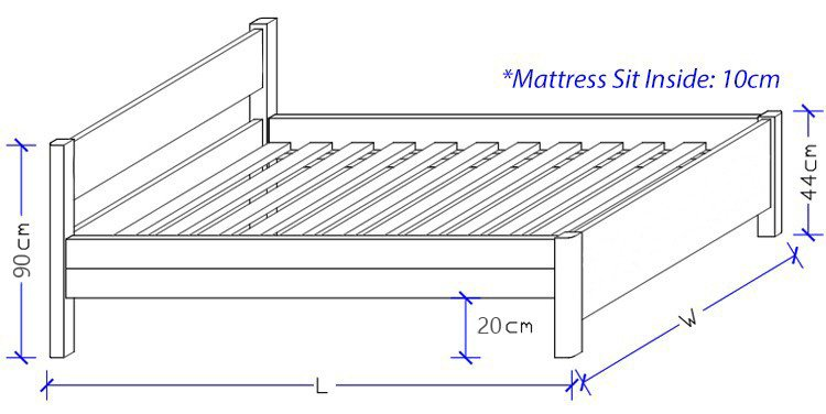 Custom made Timber Bed Frame Dimensions
