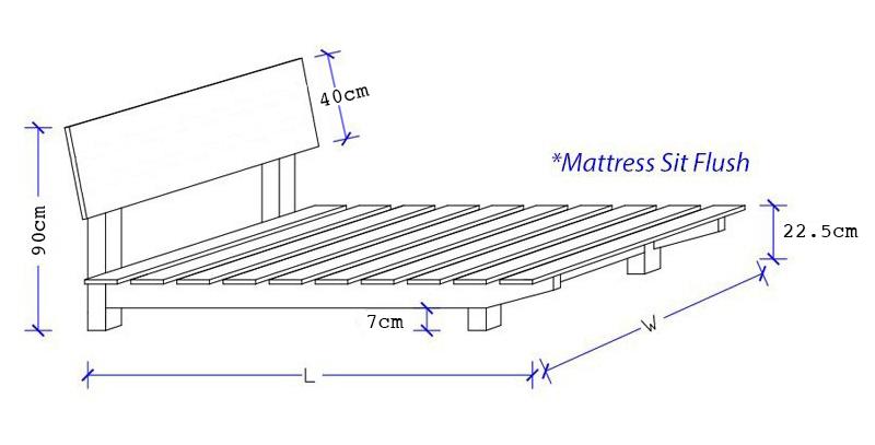 Floating Timber Bed Frame - Pine or Tasmania Oak