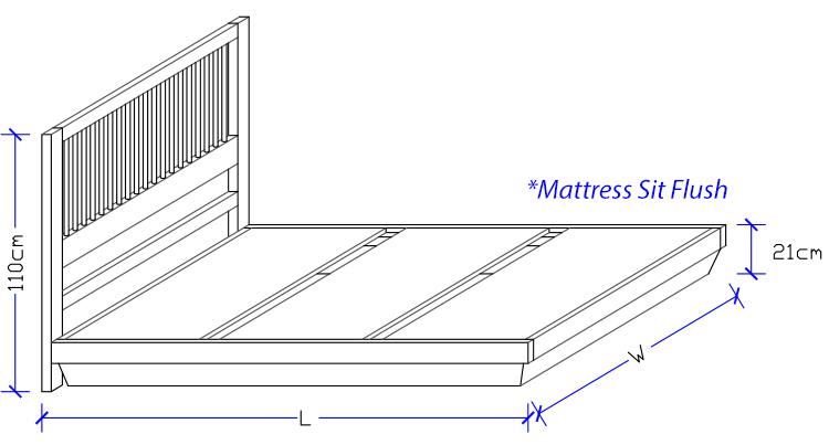 Custom Made Timber Bed Frame Bed Works Sydney