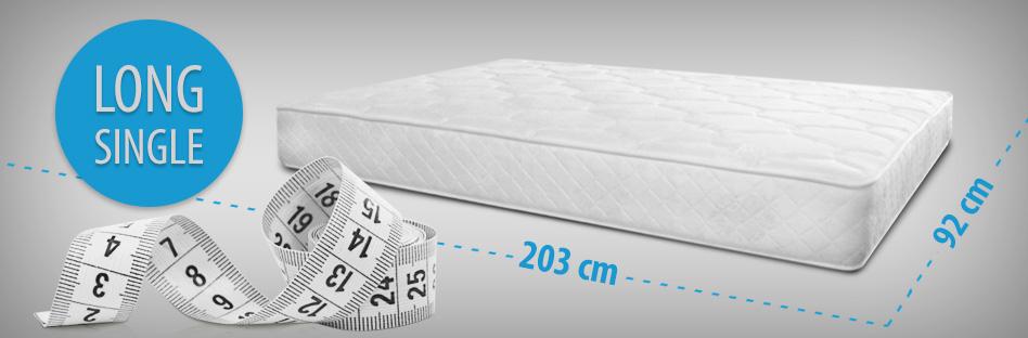 Long single mattress