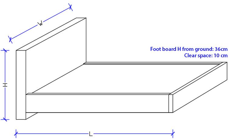 Custom Design - Metro Upholstered Bed Frame