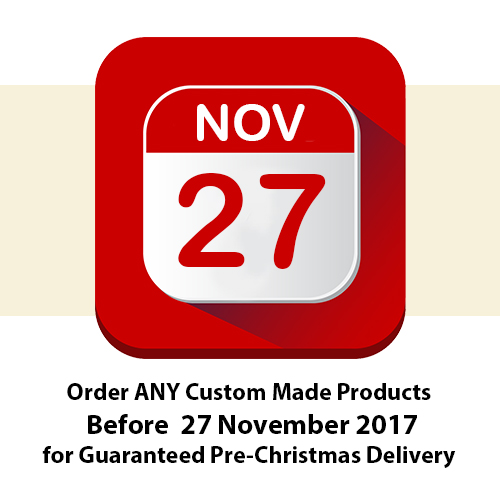 Pre-Christmas Super Deals -Order your Custom Made Bed before 27 November 2017 for Guaranteed Pre-Christmas Delivery!