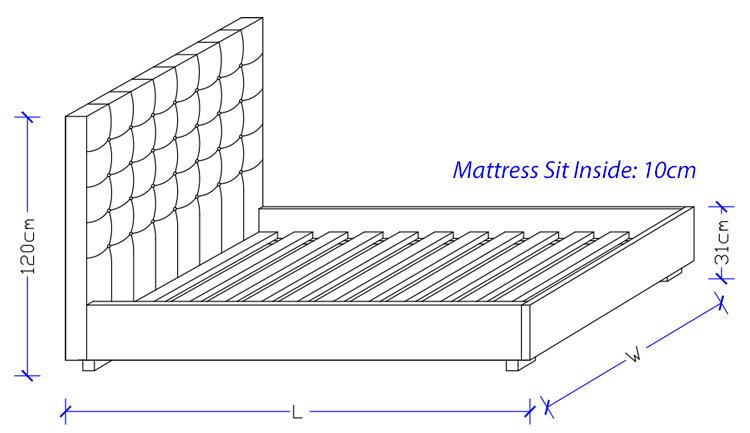 Custom Made Leather Bed Frame