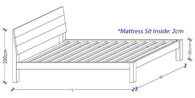 Custom Design Timber Bed Frame - Beds Sydney
