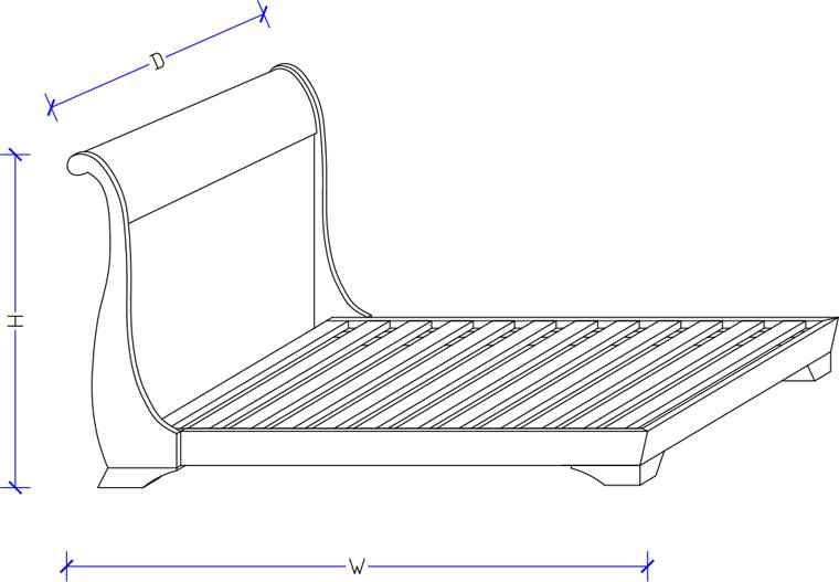 Sleigh Bed - Custom Design
