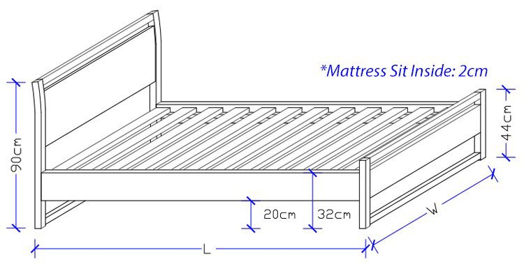 Timber Bed Frame - Custom made Bed