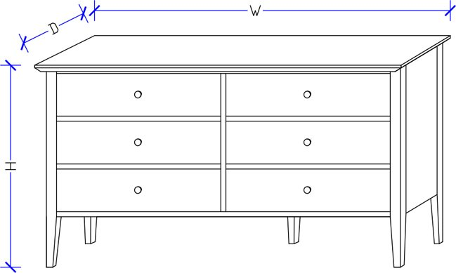 Shaker Dresser - Made-to-Order Bedroom Furniture