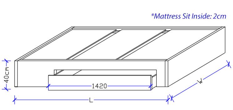 Custom Design - Timber Storage Bed Frame