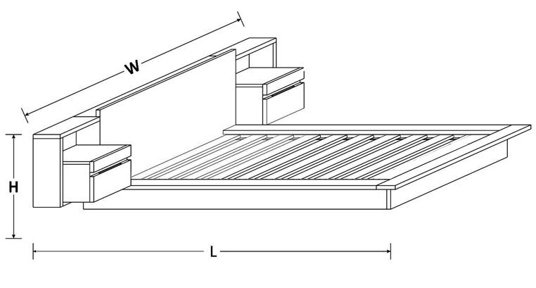 Vegas Custom Timber Platform Bed Frame